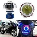 Ajuste Universal Hi/Kit Proyector de luz de Cruce 12 V LED Faro Faro Para La Motocicleta Del Coche Ángel de Ojos Rojos + azul Diablo Ojo Envío Gratis