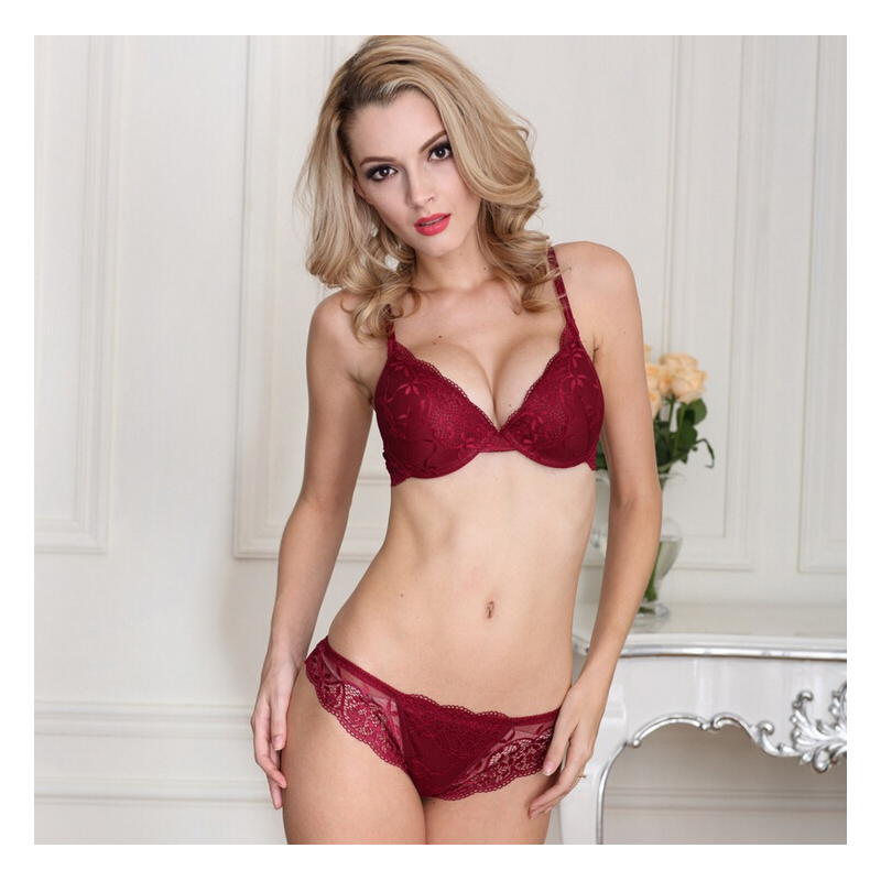 New 2016 cotton push up bra french Absolute luxury lace ...
