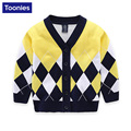 2017 New Spring and Autumn Children Boys Sweater / European and American Fashion V-neck High Quality Cardigan Sweater 3 Color