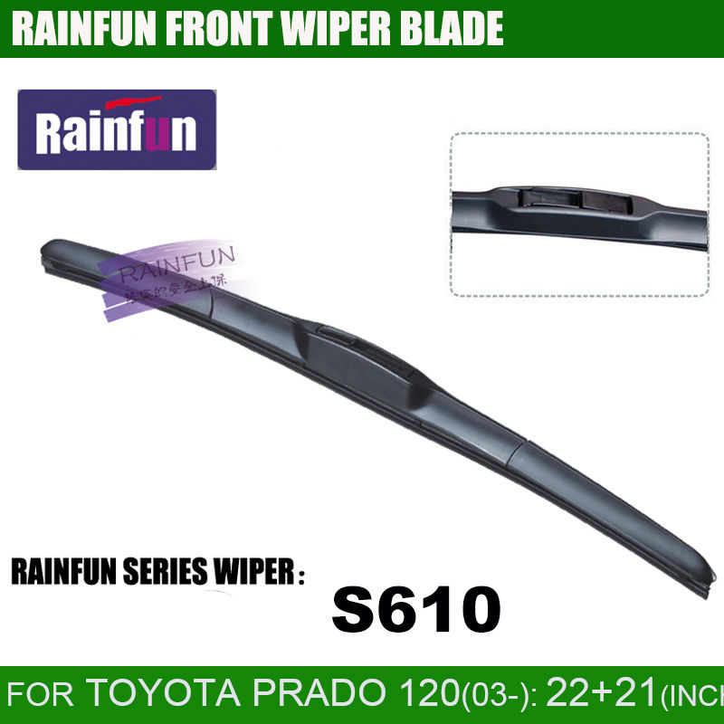 RAINFUN dedicated car wiper blade for TOYOTA PRADO 120(03-08), 22+21 HIGH QUALITY AUTO WINDSCREEN WIPER BLADE