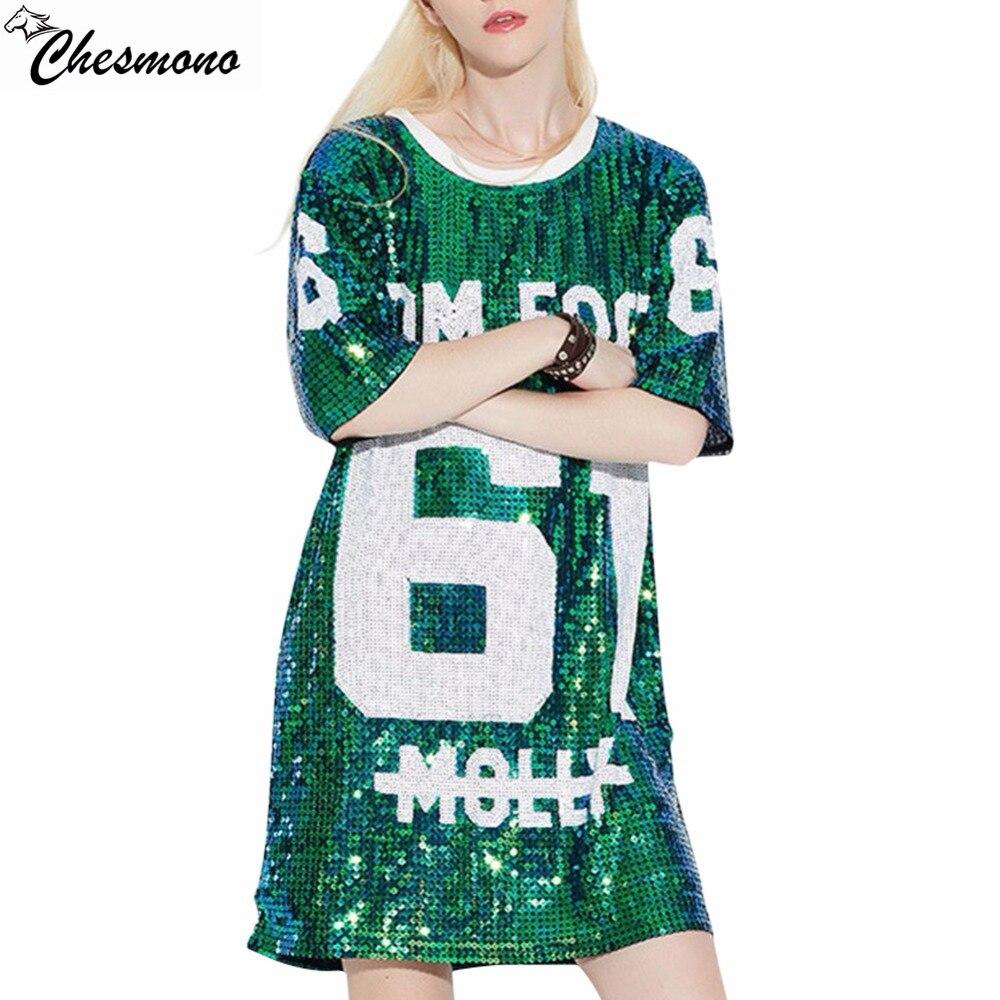 chesmono woman club hip hop 2017 sequin t shirt loose tee shirts glitter tops christmas girls. Black Bedroom Furniture Sets. Home Design Ideas