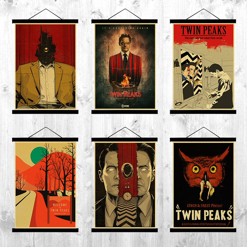 Classic TV Series Movie Twin Peaks retro posters home decor kraft paper clear picture print painting wall stickers