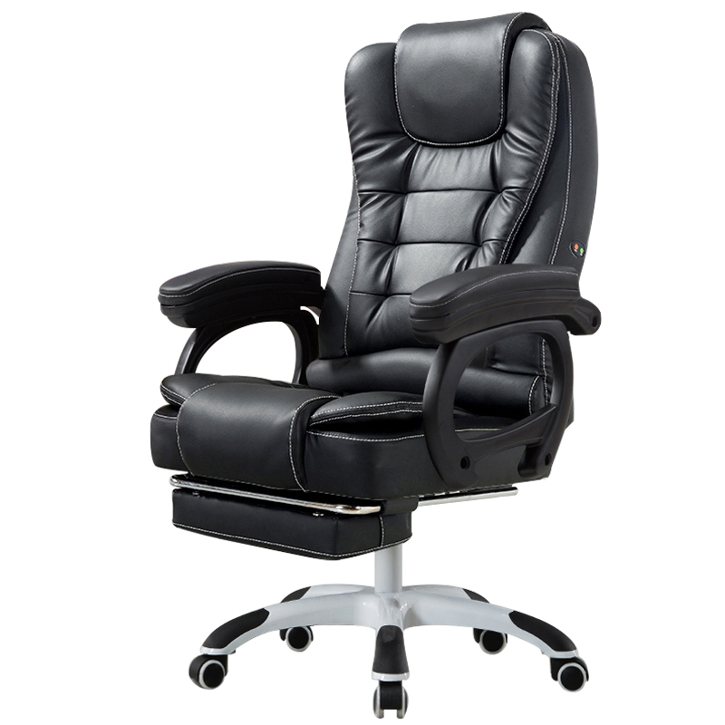 PU Computer Chair Household Office Chair Reclining Swivel Lift Computer Chaise With Massage Function Cadeira Gamer Silla Oficina