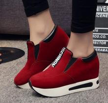 In the fall and winter of 2016 new fashions for women's shoes letter elastic thick bottom contact increased slip-on shoes