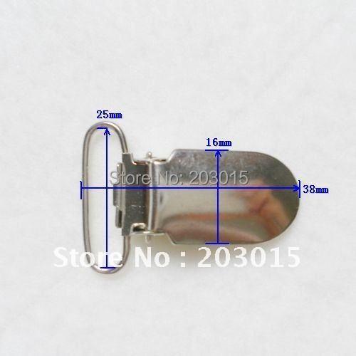 DHL 300 шт./лот 1 ''2.5 см Металл соску чулок соска пустышка Chain клипы