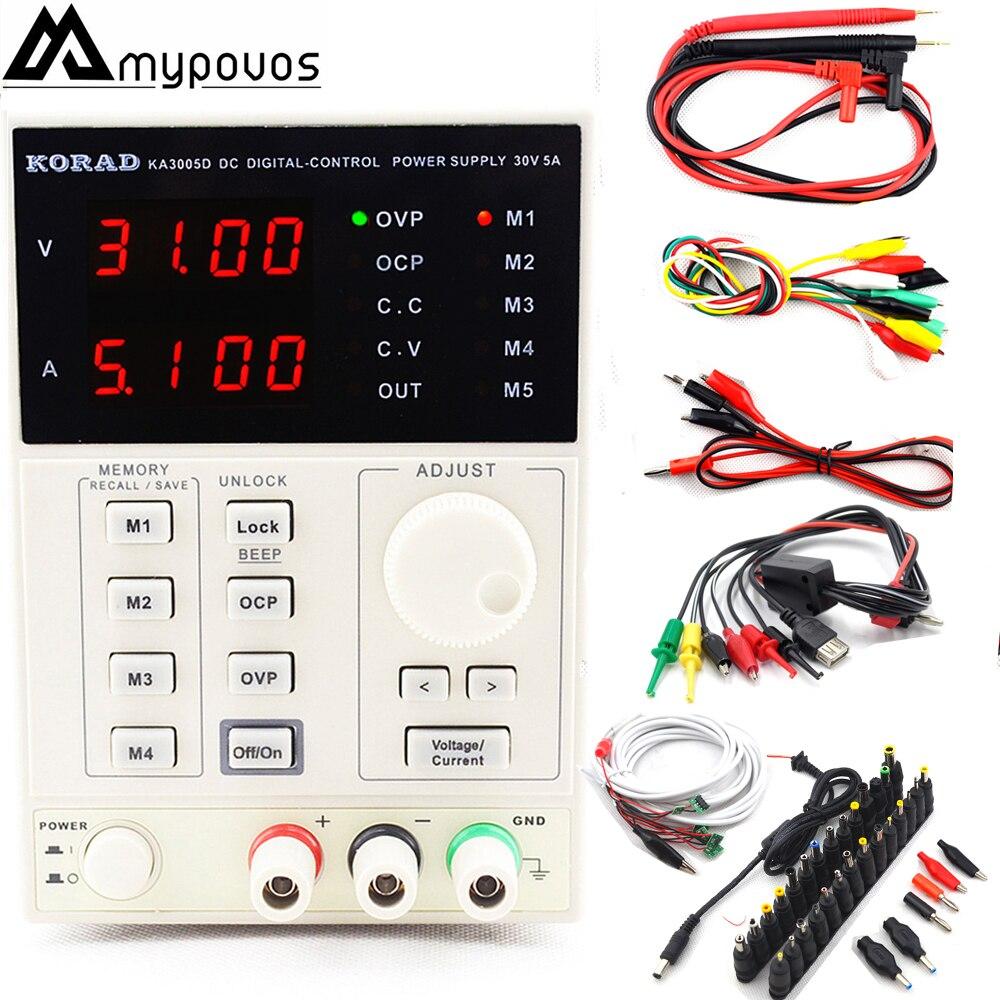 KORAD KA3005D Précision Réglable Numérique Programmable DC Alimentation Laboratoire Alimentation 30 v 5A + Ordinateur Portable AC DC JACK téléphone