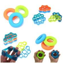 1 шт. силиконовый захват для пальцев, силовой тренажер, браслет сопротивления, рукоятка для рук, для йоги, носилки, расширитель для пальцев, упражнение, 6 цветов