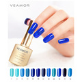 VEAMOR 8ml Soak Off Gel Polish UV LED Nail Gel Polish Gel High Quality Long lasting Blue Color Seires Nail Gel Polish