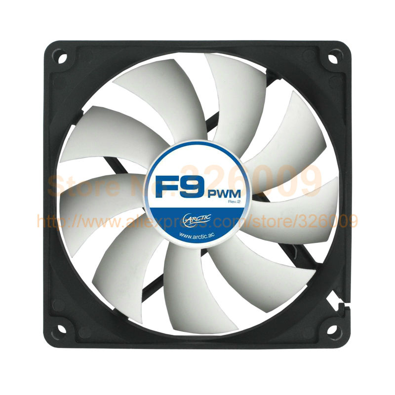 Arctic F9 PWM REV.2 4pin 9cm 90mm Cooler cooling fan temperature control silent fan Genuine original вентилятор arctic cooling f12 pwm rev 2 afaco 120p2 gba01 120mm