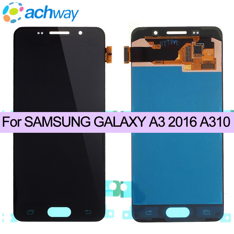 100% Work For SAMSUNG GALAXY A3 2016 A310 SM-A310F LCD Display Touch Screen Digitizer Assembly Replacement For SAMSUNG A310 LCD100% Work For SAMSUNG GALAXY A3 2016 A310 SM-A310F LCD Display Touch Screen Digitizer Assembly Replacement For SAMSUNG A310 LCD
