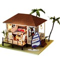 Diy Doll House Miniature Wooden Building Model Dollhouse Furniture Model Birthday Gift