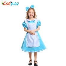 2019 new girls costumes Halloween princess dress performance Alice in Wonderland maid costume
