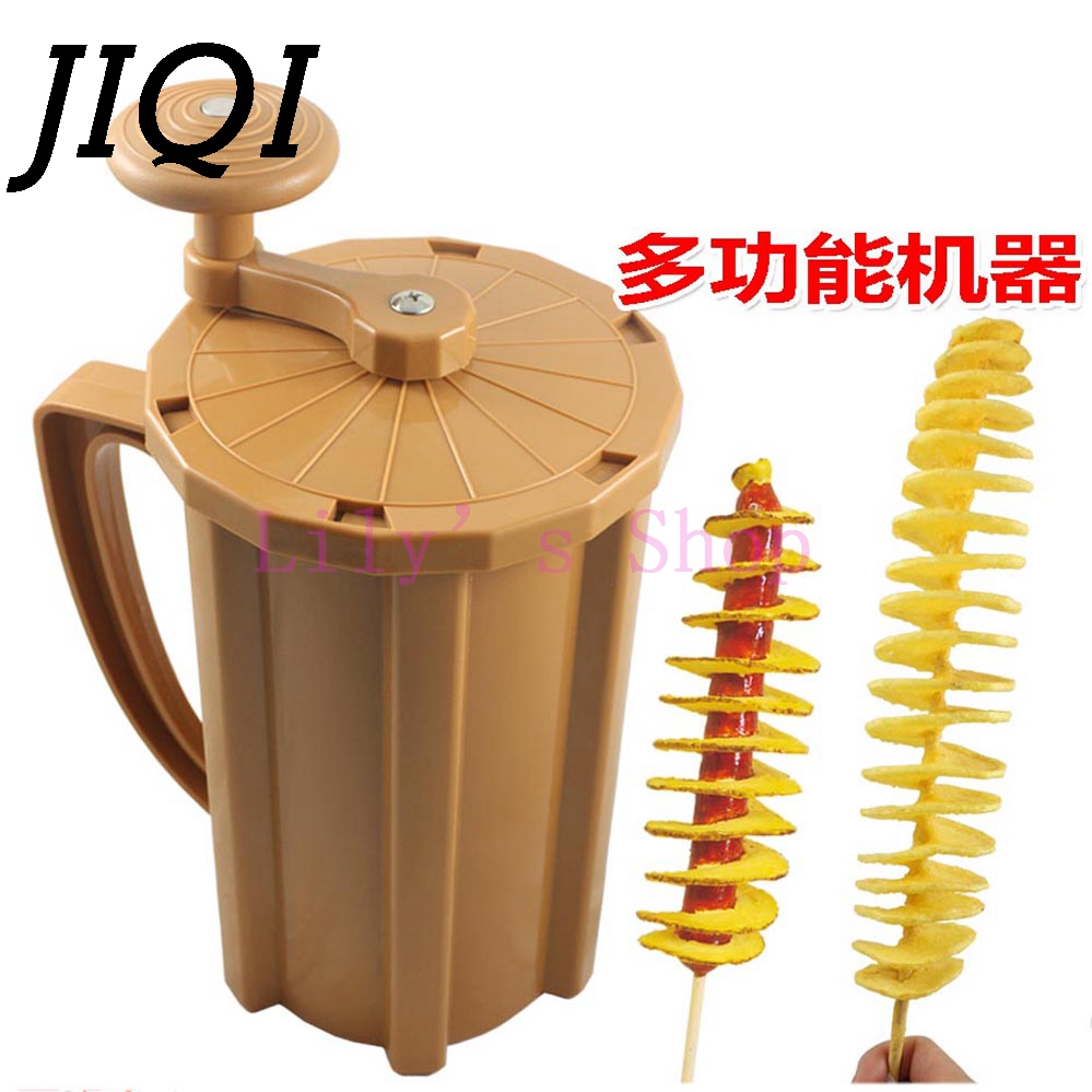 Commercial manual Twisted Potato Slicer Spiral French Fries Cutter Tornado Chopper Chips curly handle cutting tower machine manual spiral potato tower crane hand shake potato rotary spiral chips twister slicer cutter tornado making machine h1327