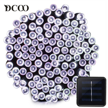 Dcoo Solar LED String Light 100 Light 8 Modes Fairy Lighting Garden Party Christmas Holiday Outdoor Lighting Wedding Decoration