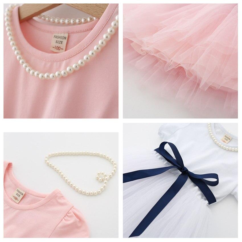 2-8 letnia letnia sukienka dla dziewczynki dzieci księżniczka - Ubrania dziecięce - Zdjęcie 6