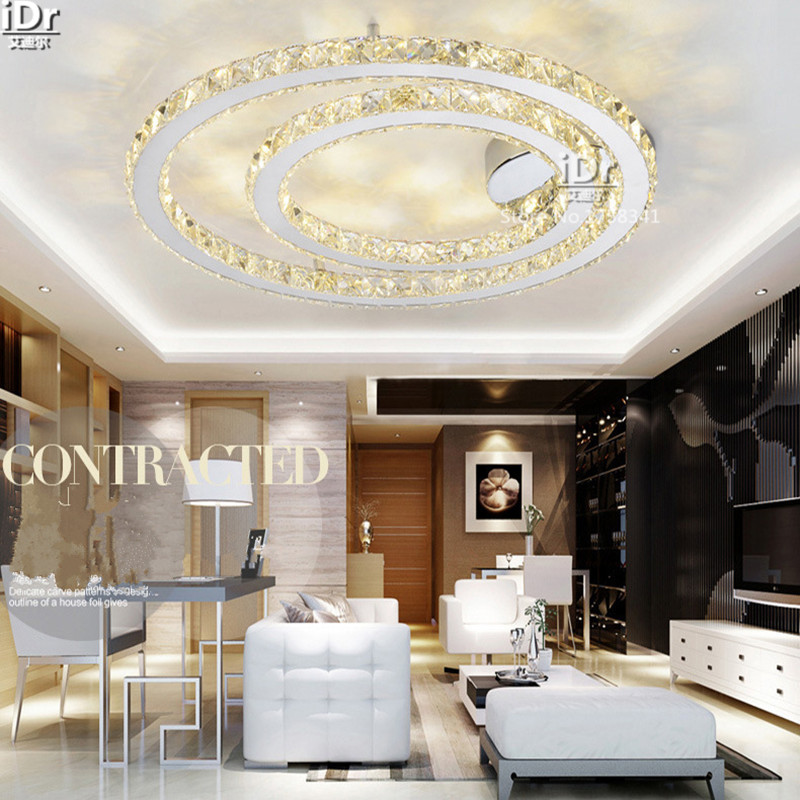 New Atmospheric Lighting Living Room Southeast Asia Bedroom Lamp Creative Study Led Crystal Light Ceiling Lights D800mm