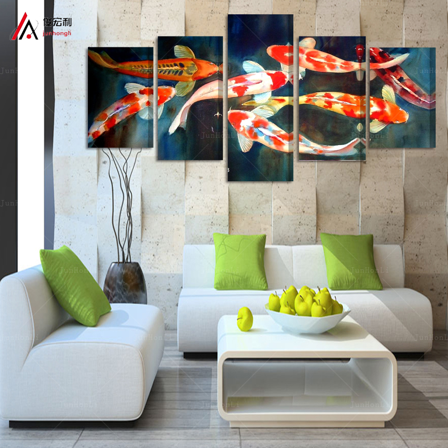 Online buy wholesale koi fish wall art from china koi fish for Koi home decor