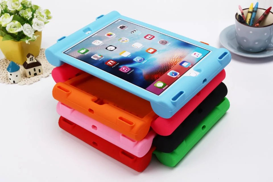 For iPad Pro 10.5 child New Stand Cover Safe Rubber Silicone Shockproof Protective shell Case for IPAD Pro 10.5 capa fundas+pen ...