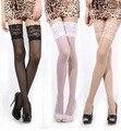 1 par nuevo diseñador moda mujer sexy tapa del cordón escarpado manténgase muslo medias altas 8 colores del estilo del verano hasta la rodilla de la liga