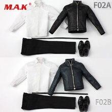 Экшн фигурка комплект одежды 1/6 f02b f02a Мужская мотоциклетная