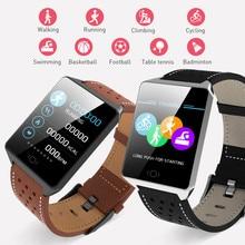 Купить с кэшбэком Smart Watch IP67 Waterproof Wearable Device Bluetooth Pedometer Heart Rate Monitor Color Display Smart Band for Android/IOS