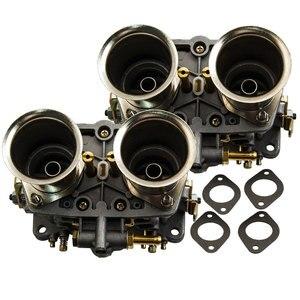 Image 2 - 2 قطعة زوج واحد 2 برميل 40IDF Carburettor الهواء القرن لشركة فولكس فاجن علة 40 IDF المكربن Carb