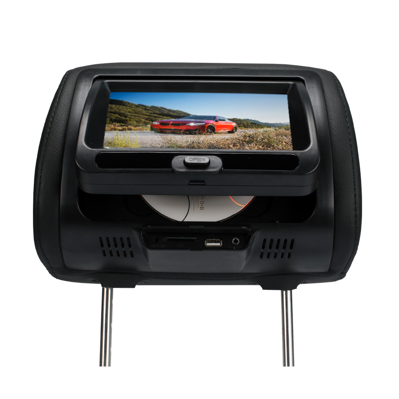General DC12V 7 Inch Car Headrest DVD Player TFT LCD Display Auto Headrest Monitor Car Monitor DVD USB SD Mp5 Game IR Speaker car pillow zipper cover 2x 9 hd touch screen car headrest dvd player with 32 bit game usb sd ir fm transmitter no ir headphones
