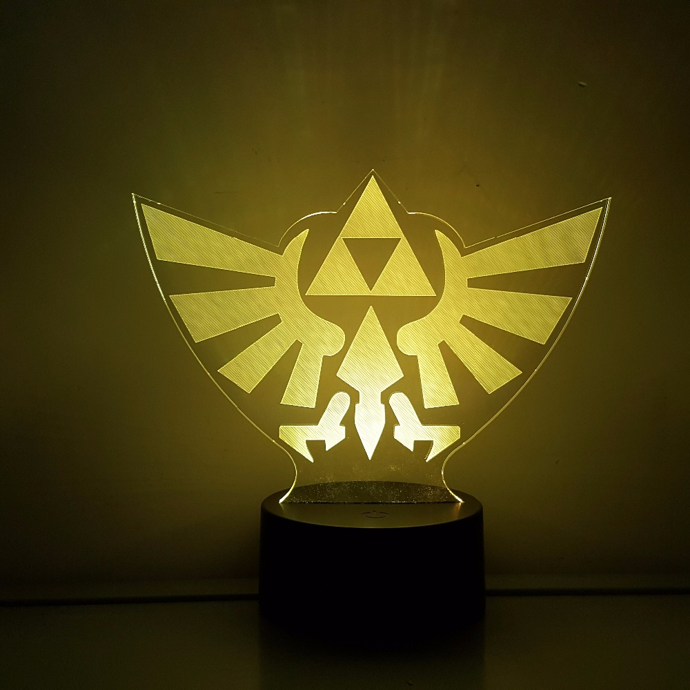 The Legend of Zelda LED 3D Nightlight RGB Color Changing Link Action Figure Visual Illus ...