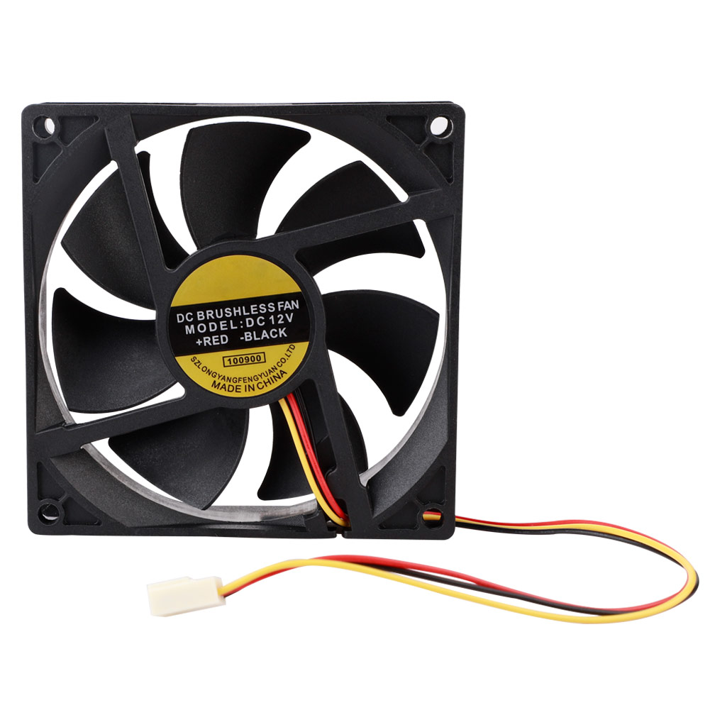 New 90mm 12V 3pin Power Connector Computer System Cooler Fan PC Case Cooling 9cm
