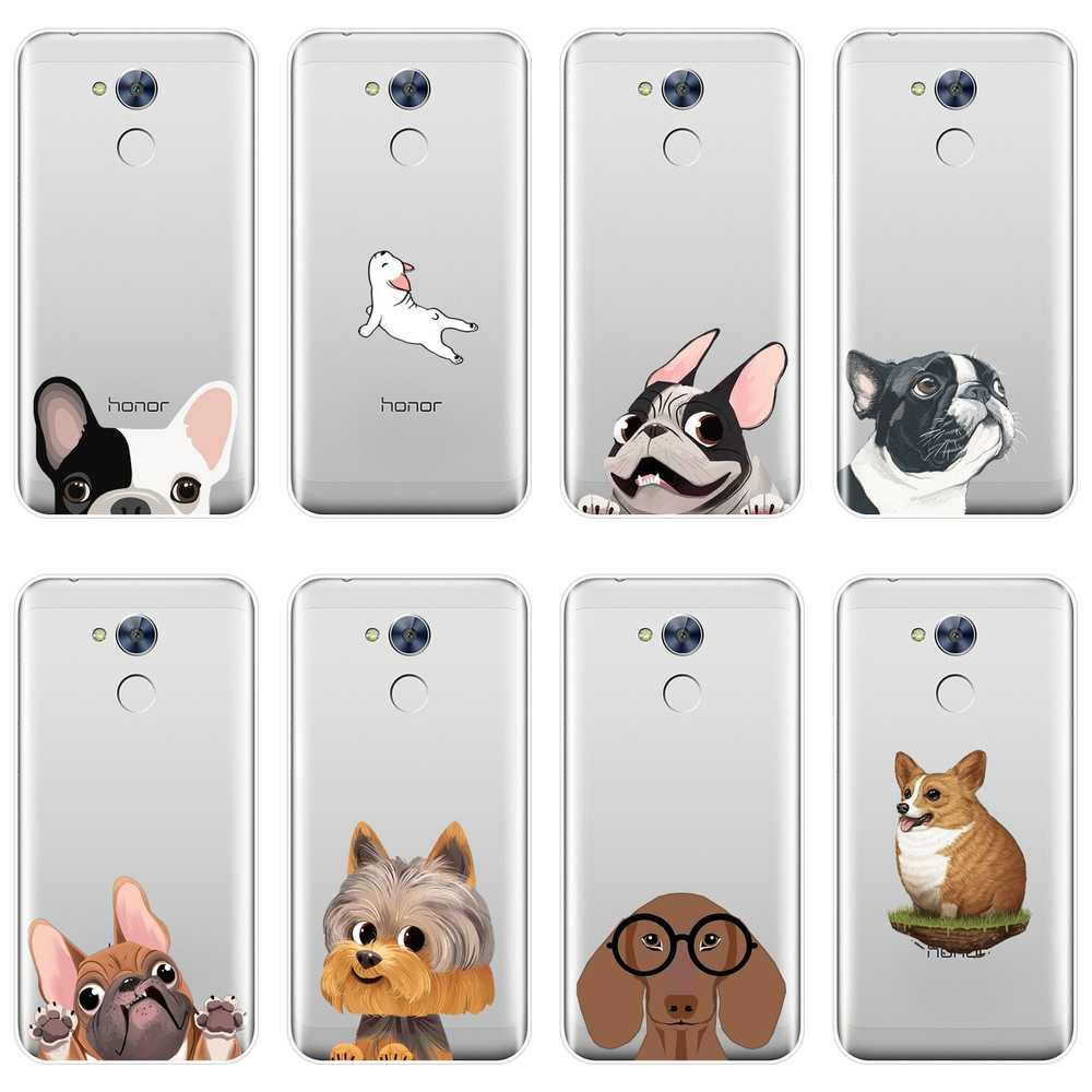 Phone Case Silicone For Huawei Honor 4C 5C 6C 6A Pro Pug Dog French Bulldog Corgi Soft Back Cover For Huawei Honor 4X 5A 5X 6 6X