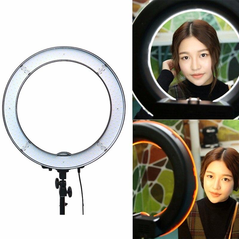 """bilder für ES240 240 LED 18 """"stufenlos Einstellbar Ring Licht Kamera Foto/Video 240 stücke LED 5500 Karat Dimmbare (1% bis 100%) + 2 Farbe Filter"""