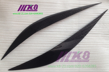 Carbon Fiber Headlight Covers Eyelids eyebrows Fit for BMW F30