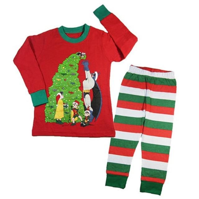 984c95f0de 2018 Children Clothing Set Baby Boys Girls Christmas Pajamas Suit Reindeer  Santa New Year Kids Sleepwear