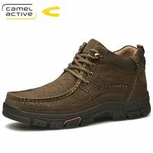 Camel Active nouveau Super chaud hommes bottes dhiver pour hommes chaud imperméable en cuir de vache bottes chaussures 2018 nouveaux hommes cheville neige Boos