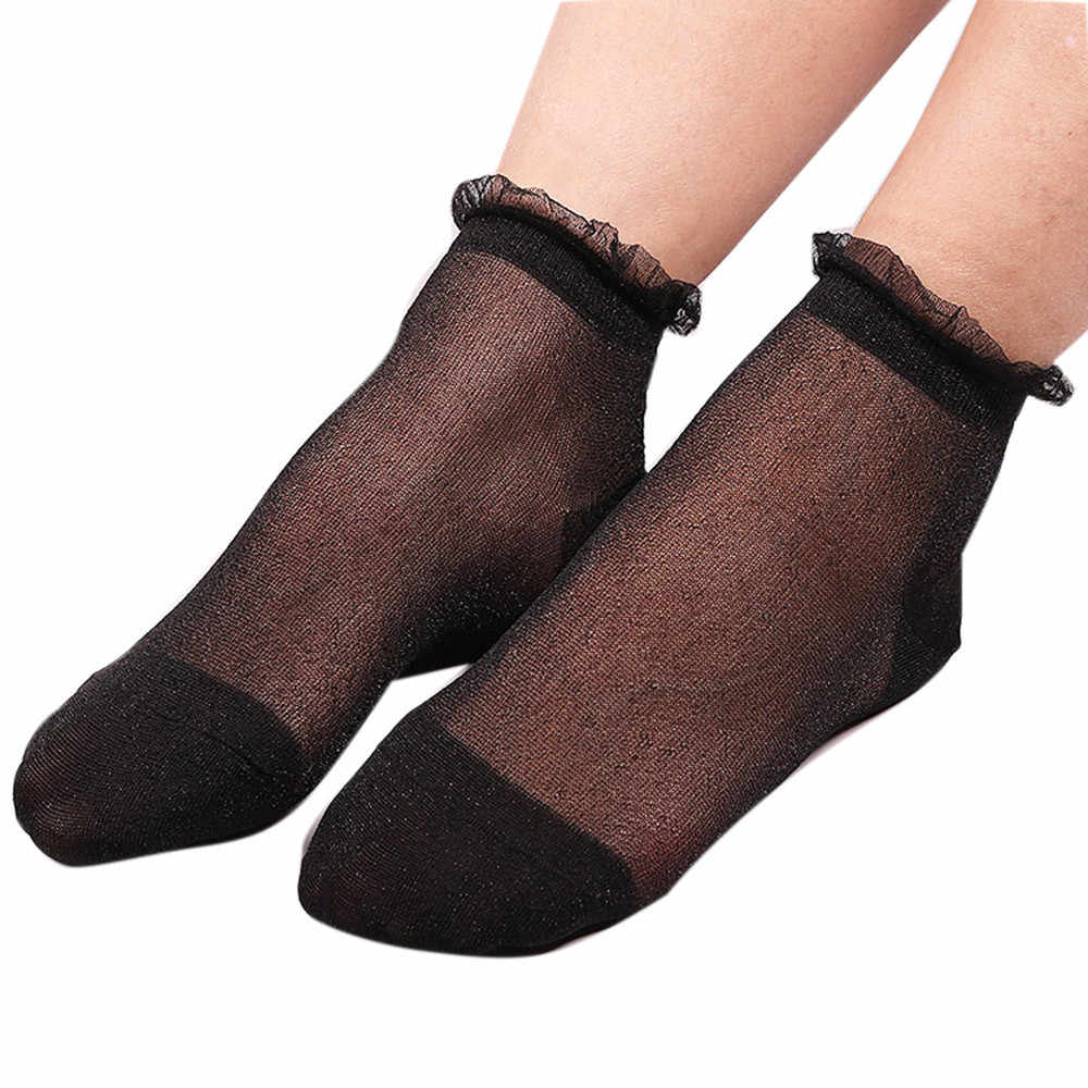 ad50830d944 Detail Feedback Questions about Sleeper  5001 Summer Women Ladies Sheer  Silky Glitter Transparent Short Ankle Socks thin for girls free shipping on  ...