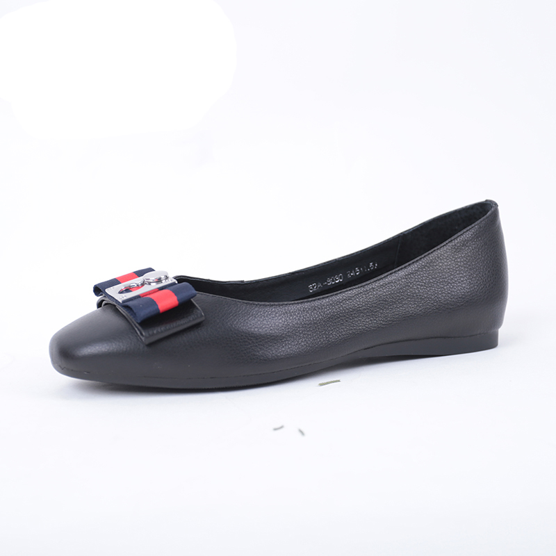 SHUANGFENG Fashion Ladies Äkta Läder Skor Kvinna Bow Tie Pattern - Damskor - Foto 2