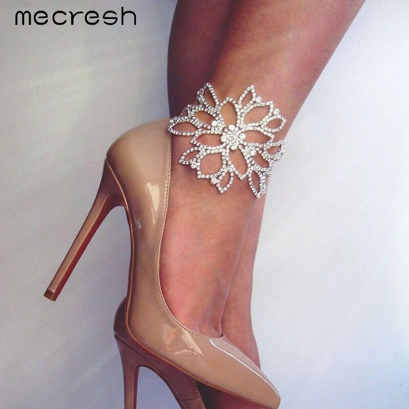 Mecresh Silver Color Crystal Bracelets fs