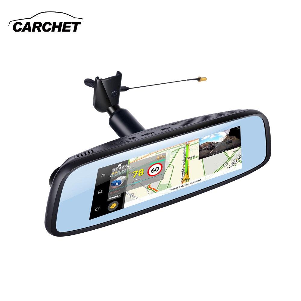 7.84 pouces 4G support spécial voiture caméra miroir Android GPS DVR avec deux caméras WIFI dash cam
