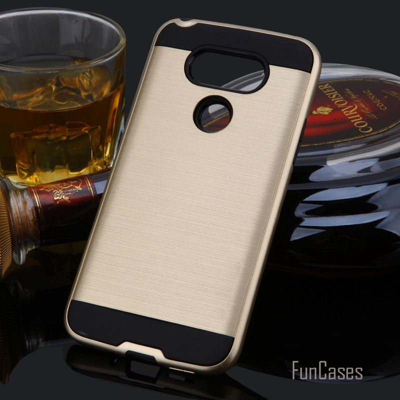 V5 Hybrid Soft Silicone Case for LG G5 Stronge Armor Back Cover for LG G5 Plastic Case fundas TPU Phone Sleeve Business Style <;
