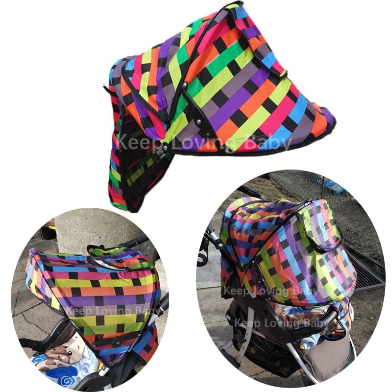 Summer Baby Stroller Sunshield Shade Protection Hoods Canopy Stroller Accessories Baby Stroller Sun Visor Carriage