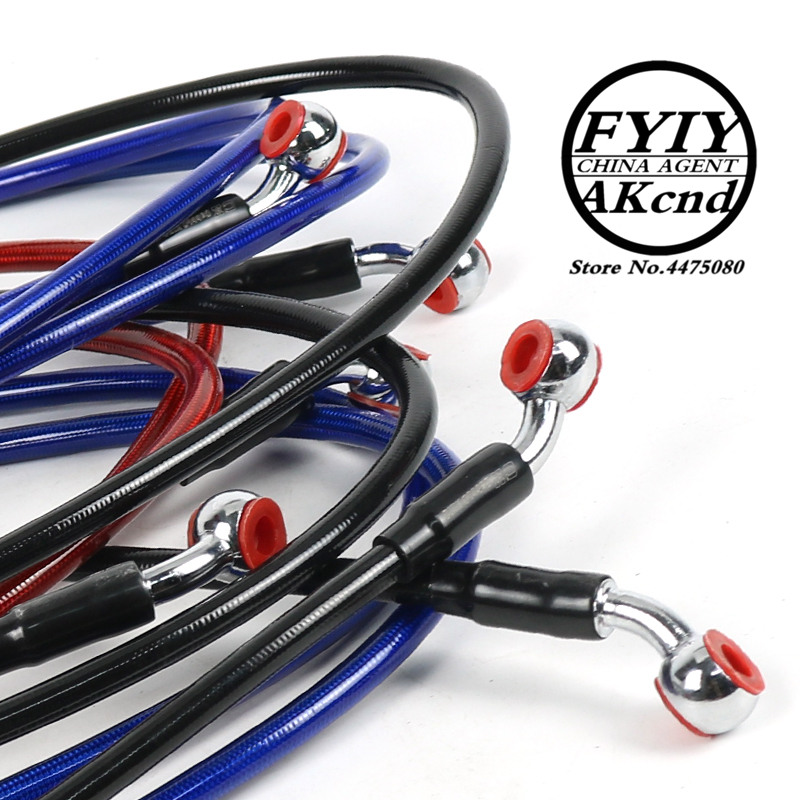 Image 2 - Motorcycle Dirt Bike Braided Steel Hydraulic Reinforce Brake line Clutch Oil Hose Tube 950/1100/2200/2300mm Universal Fit Racing-in Levers, Ropes & Cables from Automobiles & Motorcycles