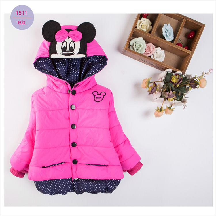 цены New children outerwear cotton winter Hooded coats Winter Jacket Kids Coat children's winter Girls clothing Thick Down & Parkas