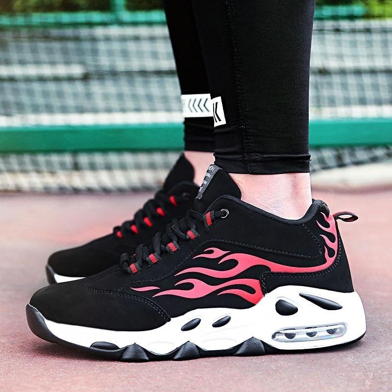 Casual Or Plein Nouvelle Grande Luxe Sneakers Pour Hommes blanc rouge 2018 De Respirant Chaussures Mode Taille En Flack Lacent Air Marche rIU47rxw