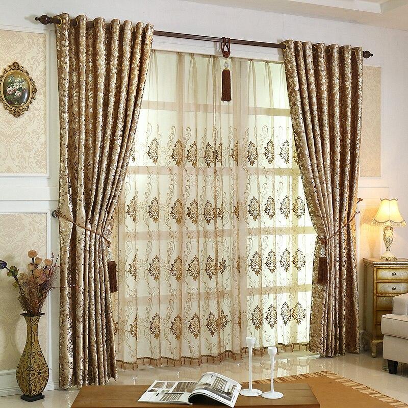 2017 nuove tende per sala da pranzo camera da letto soggiorno di lusso caldo colore jinsirong - Tende per sala da pranzo ...