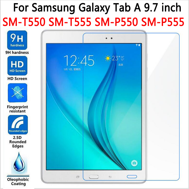 High Quality Tempered Glass for Samsung Galaxy Tab A 9 7 T550 T555 Screen Protector for