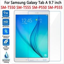 """De alta Calidad de Cristal Templado para Samsung Galaxy Tab 9.7 """"T550 T555 Protector de Pantalla para la Lengüeta 9.7 S-pen Versión P550 P555 Caso"""