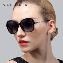 VEITHDIA Leopard Retro TR90 Womens Sun glasses Polarized Ladies Designer Sunglasses Eyewear Accessories  For Women Women 7026