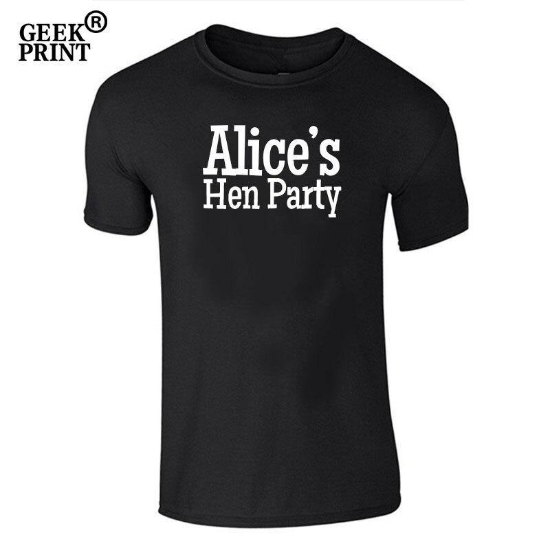 edd3cb3605235 US $3.71 38% OFF|Ladies Custom Name Hen Night Tshirt Bespoke T Shirt  Wedding Girls Bride Party Gifts-in T-Shirts from Women's Clothing on ...