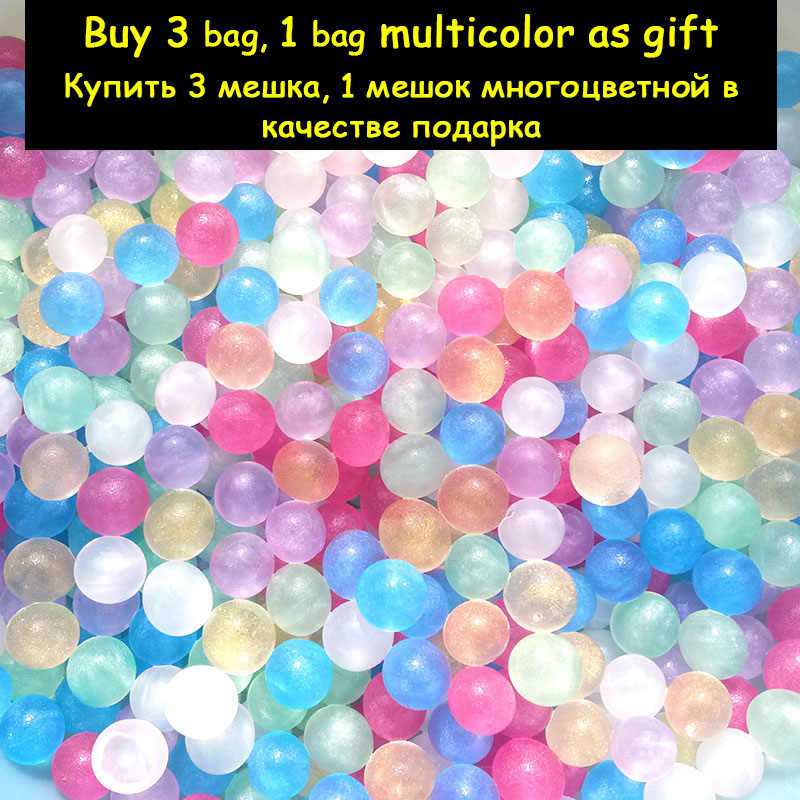New 1 bag Pearl Crystal Soil Grow Beads Hydrogel Gel Jelly Orbiz Growing in Water Balls for Flower Plant Home Decorative Toy Set