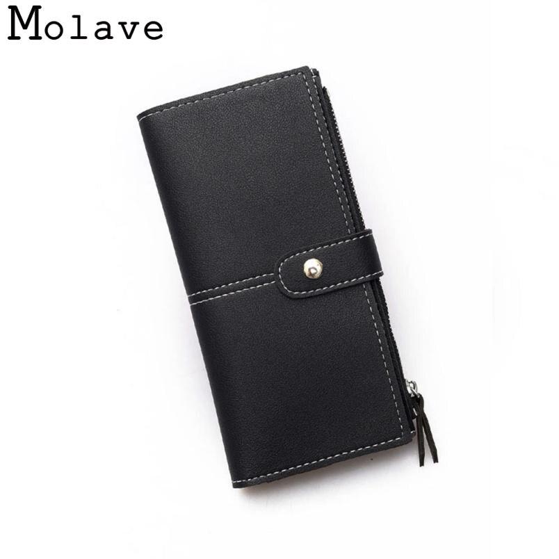 Naivety Thread Long Wallet Rivet PU Leather Wallets Female Hasp Coin Purse Mini Organizer Bag 30S71207 drop shipping